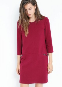 Robe bordeaux mango